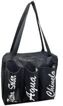 Bolsa de glitter Preta com três bolsos - Comfortmagia