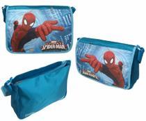 Bolsa De Nylon Com Alça Transversal - Personagem Homem Aranha - Original Marvel - AZUL -