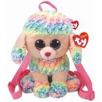 Bolsa de Pelucia Mochila Ty Gear Poodle Rainbow 4565 - Dtc