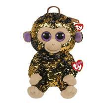 Bolsa De Pelúcia Paetê Ty Fashion Macaco Coconut Dtc 5013 -