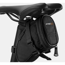 Bolsa de Selim Atrio para Bicicleta Capacidade de 1L Logo Refletivo Preta Bi093 -