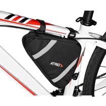 Bolsa de Selim de Quadrado para Bicicleta Capacidade de 1,2L Resistente à Água Material em em Poliéster e PVC Preto Atrio - BI094 -