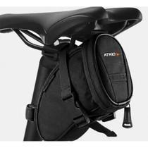 Bolsa De Selim para Bicicleta Capacidade de 1L Resistente à Água Logo Refletivo Material em Poliéster e PVC Preto Atrio- BI093 -