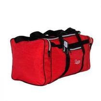 Bolsa de Viagem Resistente em Nylon Amassado Vermelha - Raizon 414695c2276