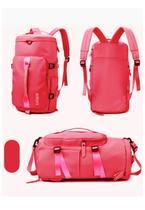 Bolsa Feminina Blogueira Mala Esportiva Fitness Academia Vira Mochilha Top Venda Rosa Pink - Yink