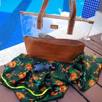 Bolsa feminina com canga every day praia viagem presente - Apparatos