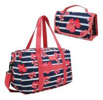 Bolsa Feminina De Viagem + Necessaire Jacki Design -