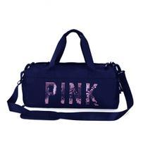 Bolsa Feminina Mala Pink Academia Fitness Transversal Casual - Bless Star