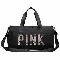 Bolsa Feminina Pink Fitness Academia E Mala De Viagem - riossport mix