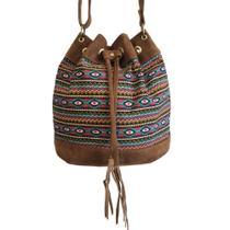 e0a84fecd Bolsa feminina transversal saco estampada étnica alças reguláveis Colorida  - Meu tio que fez