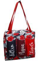Bolsa flor vermelha com três bolsos - Comfortmagia