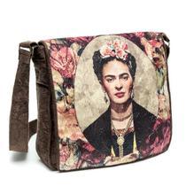 a8ee03b09 Bolsa Frida Kahlo Retrato Capanga c/ Tampa 28x28x7Cm Marrom - CT10M