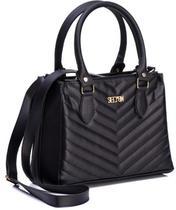 Bolsa Handbag Carteira Textura Alça Transversal Dia a Dia - Selten
