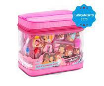 Bolsa kit maquiagem infantil  -  makebrinq - mk03 - Polibrinq