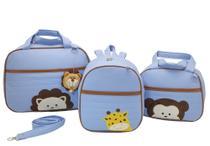 Bolsa maternidade 3 peças safari azul - Let Baby Bolsas De Maternidade