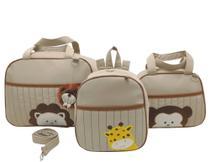 Bolsa maternidade 3 peças safari bege - LET BABY BOLSAS DE MATERNIDADE