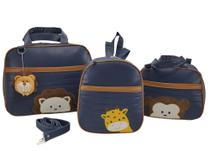 Bolsa maternidade 3 peças safari marinho - LET BABY BOLSAS DE MATERNIDADE