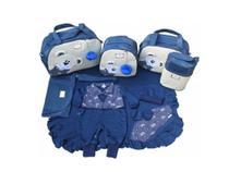 Bolsa Maternidade 5 Peças Completo Urso Orelhinha Com Saída Maternidade 5 Peças Azul Marinho - Elyã Baby