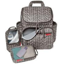 Bolsa Maternidade Forma BackPack Mochila Grey Feather Skip Hop -