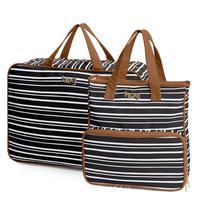 Bolsa maternidade Línea preta kit 02 peças mala + bolsa lateral - Hug -