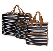 Bolsa maternidade Línea preta kit 03 peças mala + bolsas G e M - Hug -