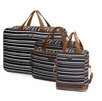 Bolsa maternidade Línea preto kit 03 peças mala + bolsa M + frasqueira - Hug -