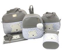 Bolsa maternidade urso s 5 peças  cinza - Let Baby Bolsas De Maternidade