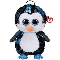 Bolsa Mochila Com Alça Ty Fashion Paetê Pinguim Waddles Dtc -