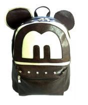 Bolsa Mochila Grande Feminina Persoanlizada Mickey (CAFÉ) Tipo Escolar, Faculdade, Pesseio - Dv acessorios