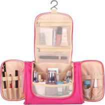 Bolsa necessaire frasqueira de viagem kit organizador de mala academia multiuso para cosmeticos produtos de higiene maquiagem com bolsos - MAKEDA