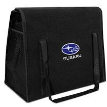Bolsa Organizadora Porta Malas Universal Preto Logo Subaru Bordado em Carpete - R-acoustic