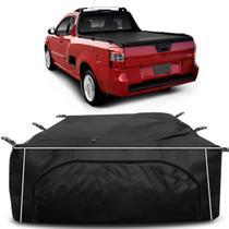 Bolsa Para Caçamba Pick-Up Montana LS 2011 a 2019 Preto 840 Litros Tamanho G Capacidade 60Kg - Top gear