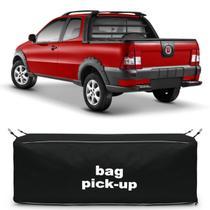 Bolsa Para Caçamba Pick-Up Strada Trekking 2005 a 2014 Preta 216 Litros Capacidade 30Kg - Top Gear