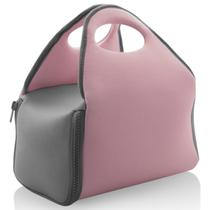 Bolsa Para Carregar Marmita Térmica Fitness Neoprene Lanches Rosa Quartz - Ou