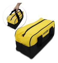 Bolsa para Ferramentas em Lona Vonder 8 Divisões Amarela e Preta -