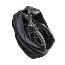 """Bolsa para transportar bicicleta dobrável de aro 20"""" ou 16"""" em material flexível e zíper Durban -"""