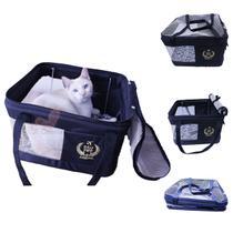 Bolsa Para Transportar Cachorro E Gato Viagem De Avião Latam Confortavel E Compacta - São Pet
