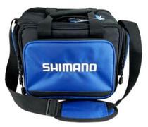 Bolsa pesca camping shimano báltica 4 estojos tamanho m azul -