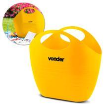 Bolsa Plástica Multiuso Vonder 8,5 Litros Sacola Para Jardinagem Feira Supermercado Praia Amarela -