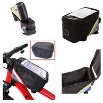Bolsa porta celular bike bicicleta case suporte touch organizador porta treco acessorios - GIMP