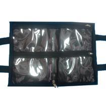 Bolsa porta esmaltes para manicure preta cabem até 40 frascos  Preto - Meu tio que fez