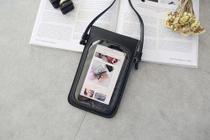 Bolsa Porta Smartphone Touch Screen Transparente Grafite - S/M