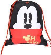 Bolsa saco com alça de cordao mickey mouse 90 years 51928 - Dmw