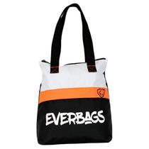 Bolsa Sacola Mala Fitness Masculina/Feminina Everbags Preto Laranja -