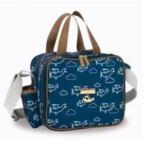 Bolsa Sacola Térmica Organizadora - 28x25x18 Cm - Coleção Avião - Masterbag -