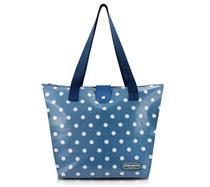 Bolsa Shopper Tam. M Bolinha Jeans Plástico Flanelado - Jacki Design