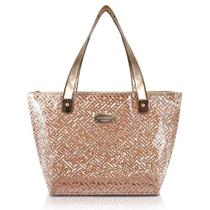 Bolsa Shopper Transparente (DIAMANTES) Jacki Design - Dourada