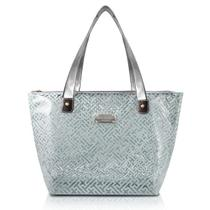 Bolsa Shopper Transparente (DIAMANTES) Jacki Design - Prata