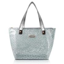 Bolsa Shopper Transparente Prata - Jacki Design