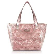Bolsa Shopper Transparente Rosa - Jacki Design